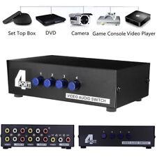 4 Port AV Audio Video RCA 4 Input 1 Output Switch Switcher Selector Splitter Box