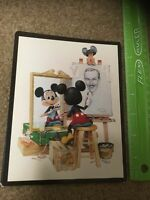 Post Cards Mickey Mouse & Walt Disney self-portrait