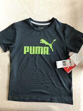 PUMA Boy's Charcoal Tshirt Top Size 6 NWT Freeshipping