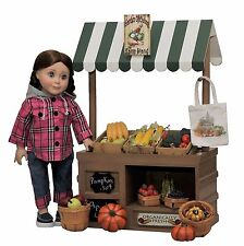 "49 PC 18"" Doll Farm Stand +Fruits,Veggies,Crates,Clothes,Shoes For American Girl"