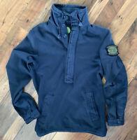 PRETTY GREEN Half Button Up Jumper Size XS Men Navy BLUE | Smart Casual Warm Top