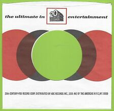 20th CENTURY-FOX REPRODUCTION RECORD COMPANY SLEEVES - (pack of 10)