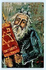 Postcard Morris Katz Jewish Judaica Artist Signed Lifting the Torah R66