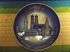 1972 Olympic Games Munich Decorative Porcelain Plate by W. Goebel Very Rare/Nice