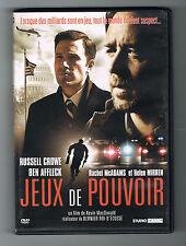 JEUX DE POUVOIR - CROWE & AFFLECK - KEVIN MACDONALD - 2009 - DVD COMME NEUF