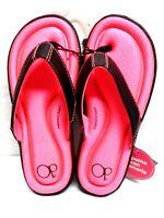 OCEAN PACIFIC GIRLS MEMORY FOAM FLIP FLOPS Medium Size 13-1 COLOR PINK  SHOES