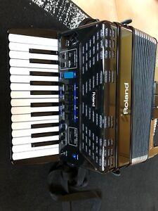 Roland FR-1X Midi elektronisches Piano-Akkordeon, schwarz, integr. Lautsprecher