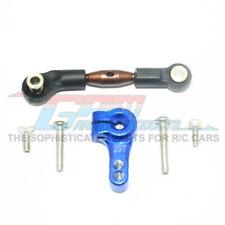 GPM Racing Spring Steel Tie Rod+25T Aluminum Servo Horn Blue : Rustler 4x4
