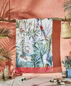 Accessorize Beach Towel Bird of Paradise Multi Soft Touch 100% Cotton Velour