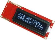 Serial Enabled 16x2 LCD Display, White on Black 5V - SPARKFUN ELECTRONICS