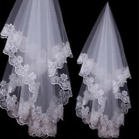 1Pc Simple Bridal  Tulle White Ivory Wedding s Wedding AccessoriesPlF