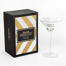 Monte Carlo Casino Themed Martini Cocktail Glass Gold Gift Box Bar Drinks HM1216