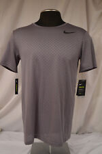 New Mens Nike Breathe Traning Mesh Perforamnce T-Shirt Tee Size MED - GRAY