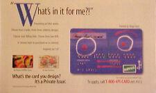 1995 Discover Card design by Beatles Ringo Starr Rock Music Oddball Art Print AD