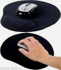 Nuevo Negro ratón del ordenador mat/pad Y Gel Descanso De Muñeca (V22)