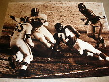Matte Finish 11x14 Sepia-Toned Photo Jim Brown HOF Cleveland Browns vs NY Giants