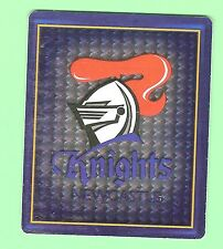 2009  NEWCASTLE KNIGHTS RUGBY LEAGUE FOOTY FRAME TAZO -#32  LOGO & TRIO