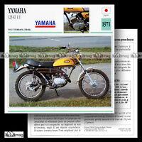#062.14 YAMAHA 125 AT 1 E (AT1 AT1E) 1971 Trail bike Fiche Moto Motorcycle Card