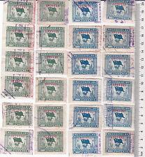 "R2342, ""Flag & Globe"", China Revenue Stamp 24 pcs High Value, 1950, Huadong Dist"