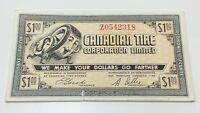 1962 Canadian Tire One 1 Dollar CTC-8-62 Circulated Money Bonus Banknote D068