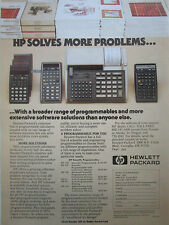 4/1980 PUB HP HEWLETT PACKARD HP CALCULATOR HP-33 HP-41 HP-97 CALCULATRICE AD