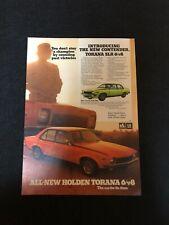 Torana SLR 6 V8 Holden Original Print Advertising.