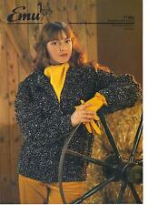 Emu Snowstorm Tweed KNITTING PATTERN jacket 1146A