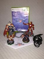 Disney Infinity 3.0 Xbox 360 Game Portal Base 4 Figures (2 Marvel 2 Activision)