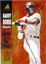 Barry Bonds 1995 Pinnacle Red Hot Insert San Francisco Giants