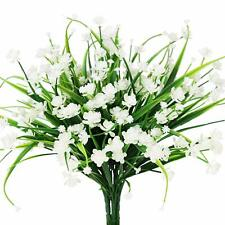 4pcs Artificial Flowers Fake Plant Outdoor Faux Floral Greenery Shrubs Calla Dec