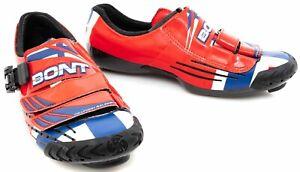 Bont A-One Hushovd Signature Carbon Road Bike Shoes EU 43 US 10 3 Bolt TT Race