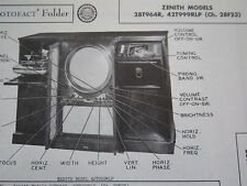ZENITH 28T964R & 42T999RLP TELEVISION TV PHOTOFACT