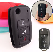 3 BUTTON SILICONE KEY FIT FOR VW VOLKSWAGEN SKODA SEAT REMOTE COVER CASE FOB