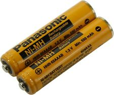 2x Panasonic AAA Rechargeable Ni-Mh Battery HHR-55AAAB 550mAh (4 Cordless phones