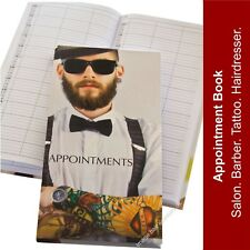 Barber Gents Male Hairdressing Appointment Book 3-6 Column MAN WITH TATTOO