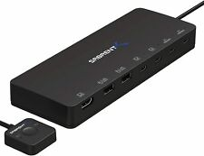 Sabrent 2-Port USB Type-C KVM Switch with 60 Watt Power Delivery Option USB-KCPD