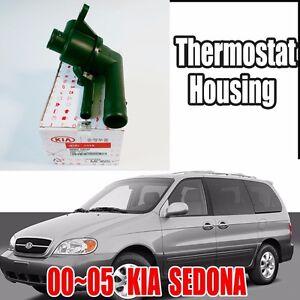 KIA 2000-2005 Sedona Engine Coolant Thermostat Housing  Genuine 0K9BV-1507XF