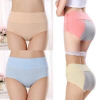 Women Menstrual Period Panties Lady Bamboo Fiber High Waist Underwear Leakproof