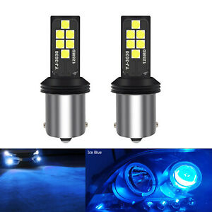 2x 1156 LED Turn Signal Bulbs Advanced 3030 SMD DRL Brake Parking Light Ice Blue