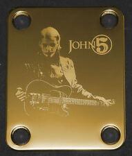GUITAR NECK PLATE Custom Engraved Etched - Fits Fender - JOHN 5 - Gold