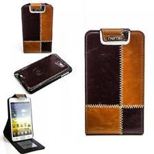 Luxus Flip Case Handy Tasche für Samsung i9220 N7000 Galaxy Note Braun Coffee