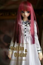 1 3 8-9 Bjd Wig Dal Pullip BJD SD LUTS MSD DOD DOC DD Dollfie Doll Red long wigs