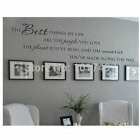 The Best Things In Life Vinyl wall decals ~ Love Memories Wall Quote Home Art Vi