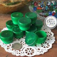 DEAL! 50 GREEN JARS 1tsp Green Caps 1/4oz Herbal Stash 3301 Geocache DecoJars
