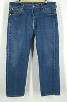 Vintage Levis 501xx Made In USA Jeans Denim Button Fly Mens Measures 36x27