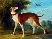 PAINTING ANIMAL PORTRAIT STUDY OUDRY GREYHOUND LANDSCAPE ART PRINT POSTER HP1492