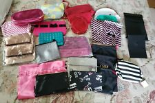 Lot of 27 Cosmetic Cases, Pouches, Gift Bags