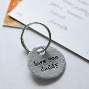 Kutuu Pewter Charm Keyring - Love you Daddy