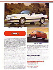 1991 Ford Mustang Article + VIN Decode - Must See !!