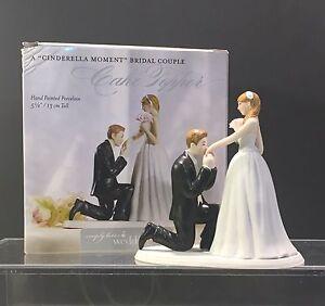 "Cake Topper A Cinderella Moment Friday Couple Figurine 5 1/8"" Weddingstar NIB"